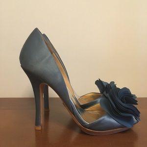 Badgley Mischka Blue Blossom D'Orsay Heels